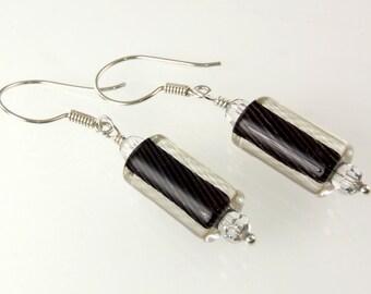 Artisan - Sterling Silver Furnace Glass Earrings E032