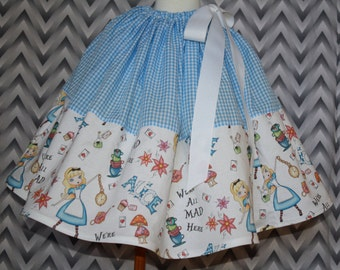 Alice in Wonderland Skirt for Gals, All Sizes, Plus Size