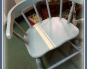 Vintage Child's Chair Blue Shabby Chic Annie Sloan Chalk Painted Distressed Wooden Chair