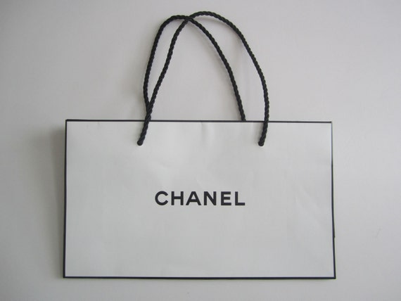 Lot of 3 Authentic CHANEL Bag / White Paper Shopping Bag with