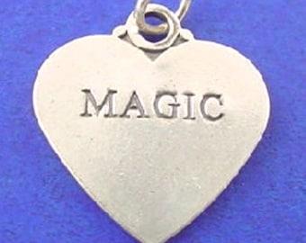MAGIC HEART Charm .925 Sterling Silver Pendant - lp3358