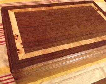 Inlaid wood jewelry box