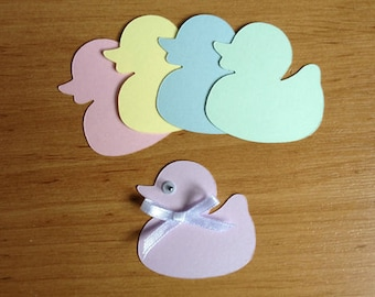 20 Cute Pastel baby Duck die cuts for cards toppers cardmaking scrapbooking