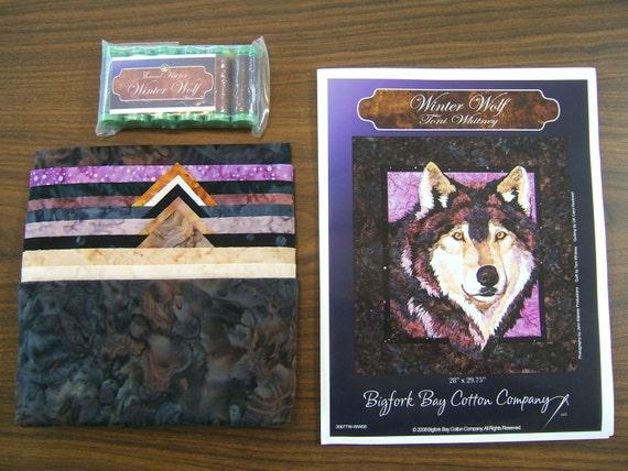 Winter Wolf Applique Kit Toni Whitney Kits Kits With Fabric