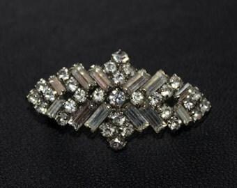 Vintage diamante flapper brooch