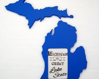 Michigan picture frame 4x6
