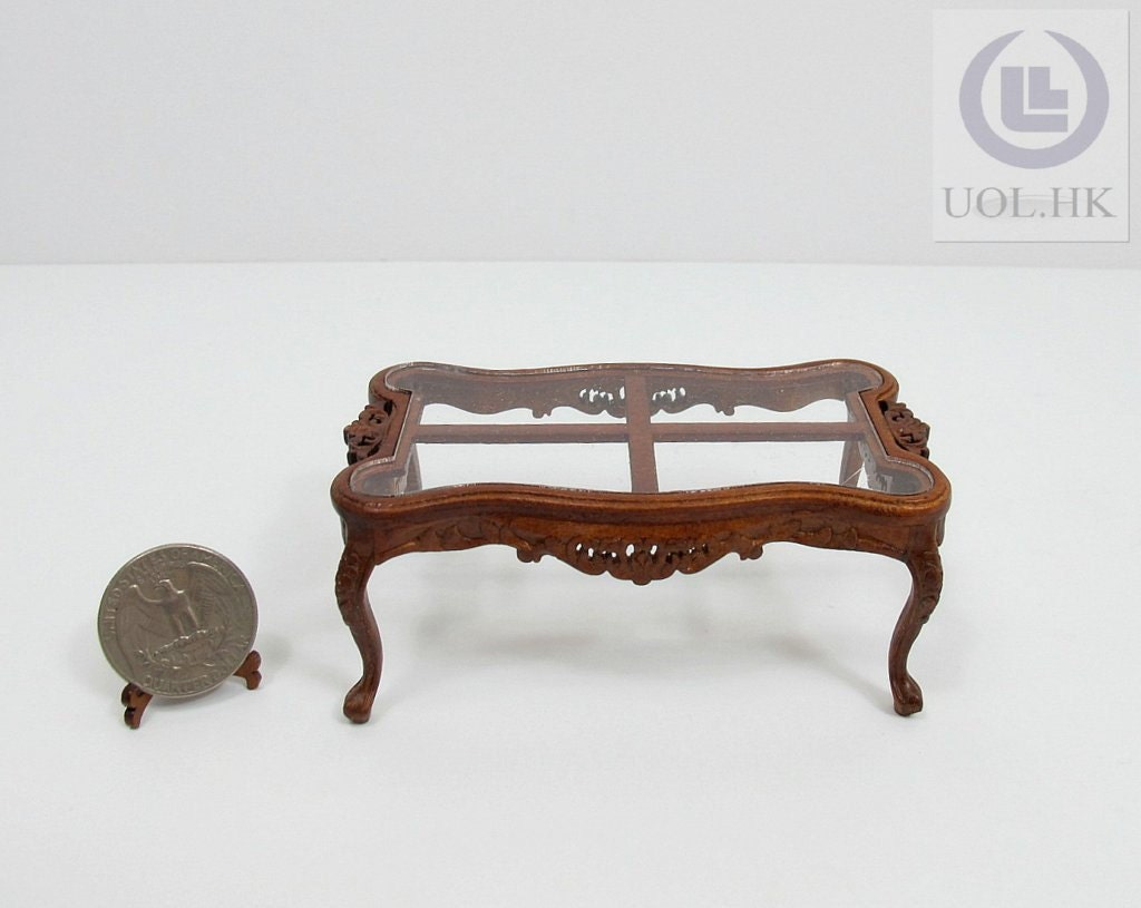 Miniature 1 12 Scale Cross Coffee Table For Doll