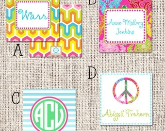 Personalized Girl Enclosure Cards or Labels - Choose Design