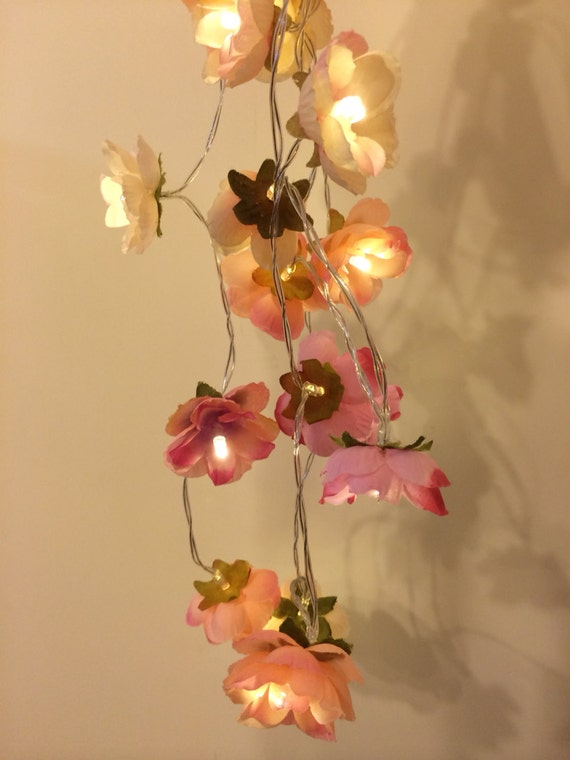 Led Rose String Lights : Pink LED Wild Rose Fairy Lights String Lights Wedding Party