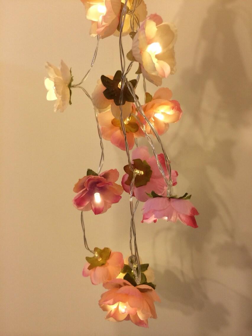 Pink LED Wild Rose Fairy Lights String Lights Wedding Party