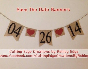 Save The Date Burlap Banner