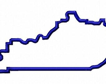 State of Kentucky applique design download - 5x7 hoop size