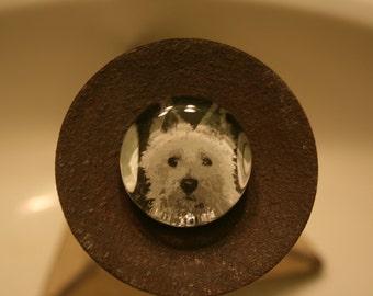 Unique Westie Glass Magnet