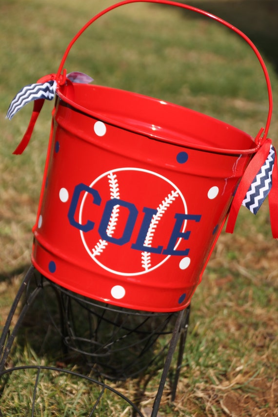 Personalized Baseball Softball Easter Basket Easter Egg Hunt