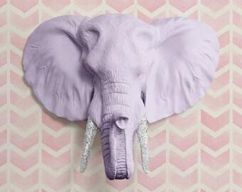 La savane en blanc t te d l phant faux faux r sine animaux - Tete d elephant mural ...