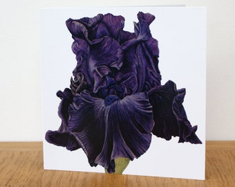 Iris 'Hello Darkness'  art card - blank inside