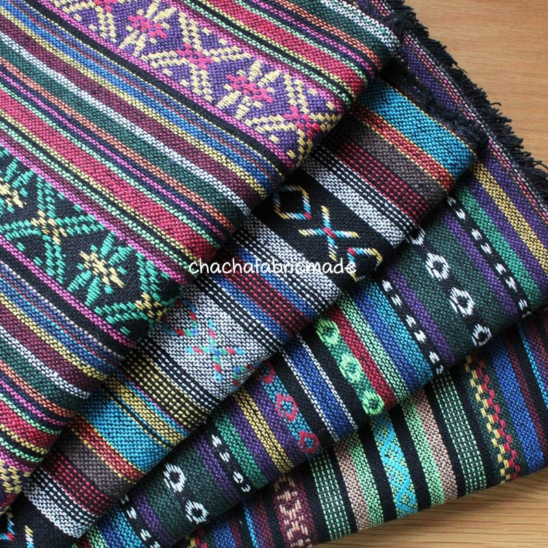 Thai Handwoven Fabric Ethnic Fabric Boho Bohemian Hippie Style
