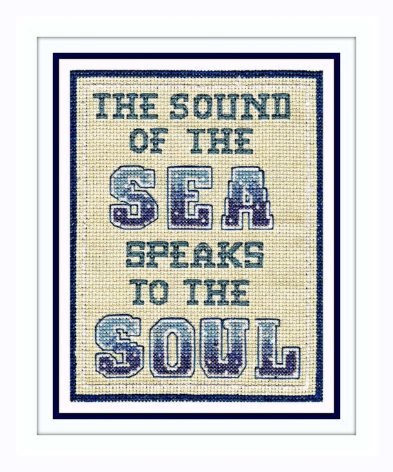 Cross Stitch Chart PDF - Wall Waffle No 1 - The Sound of the Sea