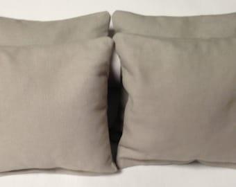 CORNHOLE BAGS 4 Gray Duck Cloth Regulation Bags