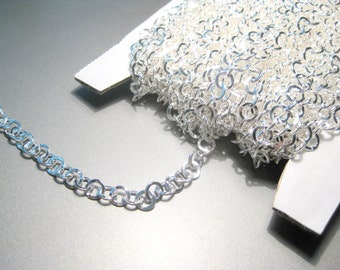 10 ft Bright Silver Plated Flat Link-Opened Rolo Chain 6mm(No.68)