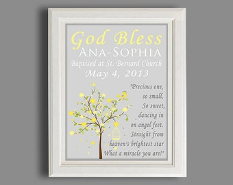 Baptism Gift - Christening Gift - Personalized Baptism Gift - Gift From Godparents - Dedication Gift For Baby Boy