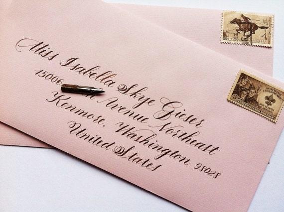 Wedding Calligraphy Envelope Addressing: Formal by BespokeStrokes