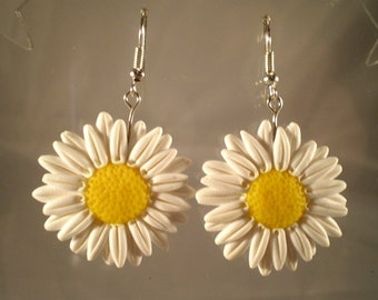earrings handmade daisy