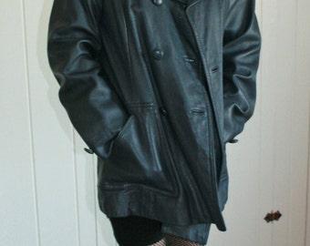 Leather Vintage Peacoat