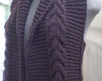 Knitted vest wool acrylic casual brown women handmade sz. S-M