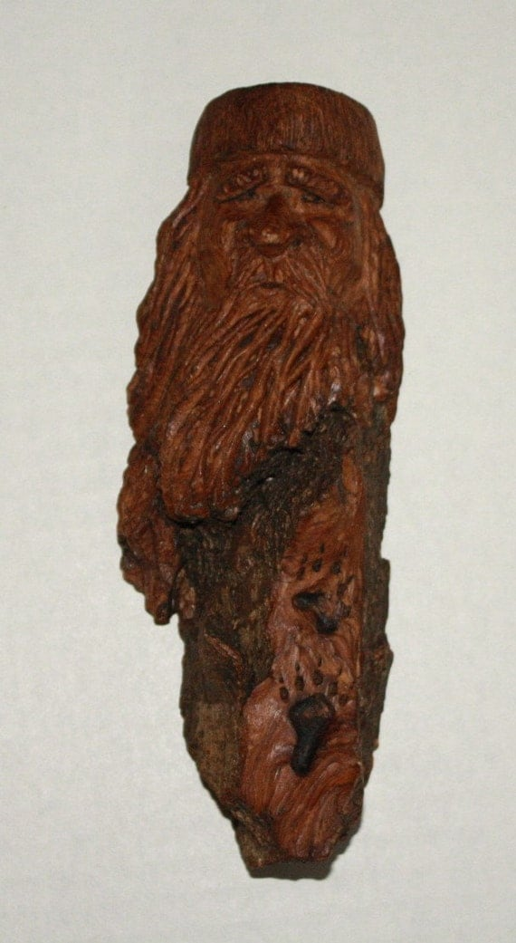 Items similar to hand carved cottonwood bark mountain man