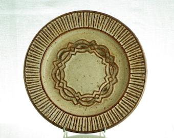 Kingo Keramik, white and brown dish, made in Denmark