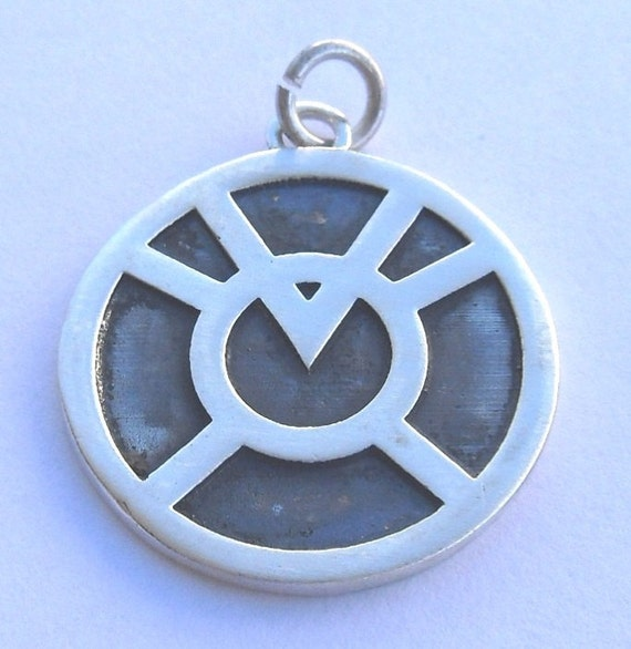 Agent Orange Corps Avarice Green Lantern Pendant Sterling