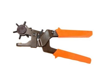Leather Hole Punch Tool, Heavy Duty 2.0mm - 4.5mm, Professional Leather Puncher, Revolving Leather Hole Punchin, Punch Through Tough Leather