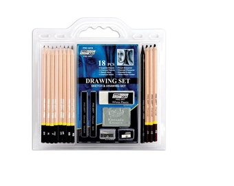 18 Piece Sketch/Draw Pencil Set, Drawing Pencils For Beginners, Set Contains All Necessary Pencils For Beginners To Draw And Sketch