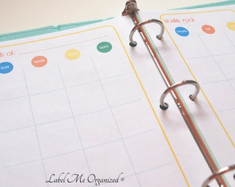 Perpetual Monthly Planner - A5 Sized