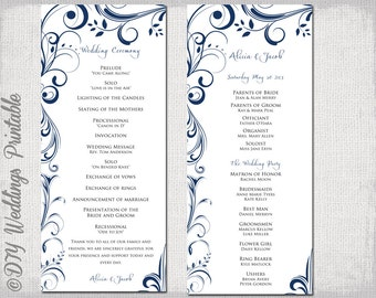 wedding ceremony order of service template free - popular items for wedding program template on etsy