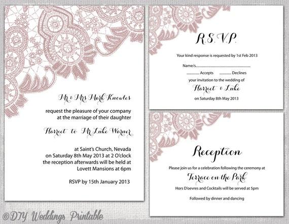wedding reception invite templates