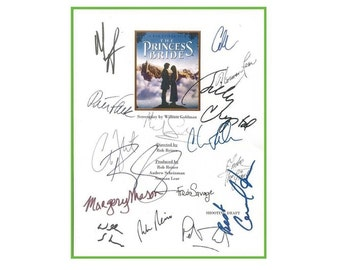The Princess Bride Movie Signed Script Screenplay Autographed with Clear Protective Cover