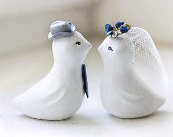 Wedding Cake Topper , Love Birds, Birds cake topper