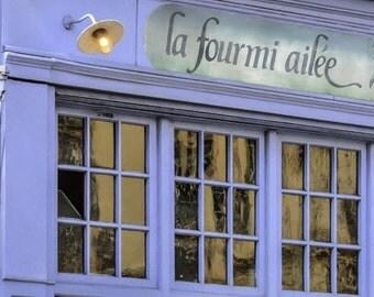Paris Photography, Paris Photo, Paris Cafe, Periwinkle Cafe, Purple Cafe, Kitchen Decor, Left Bank