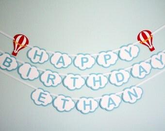 Custom Hot Air Balloon Birthday Banner