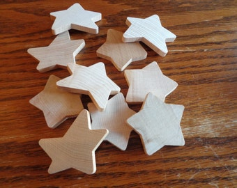 5-Wooden Regular Stars Unfinished and 5-Wooden Primitive Waving Stars Unfinished