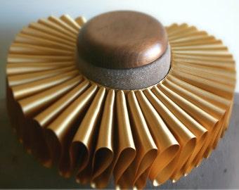 Gold Satin Elizabethan Ruff Collar