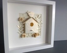 Bird Box picture - 3D Framed Handmade Paper Artwork