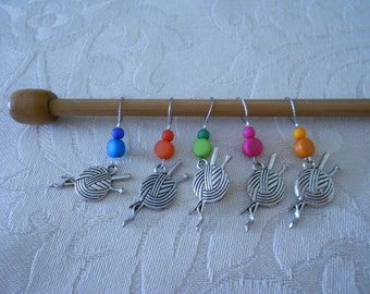 Stitch Markers : up to 6 mm Knitting needles (E0514)
