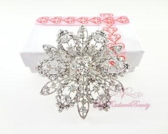Rhinestone Brooch, Wedding Brooch, Crystal Brooch, Brooch, Victorian Bridal Brooch, Wedding Jewelry, Vintage Brooch Wedding Accessory BR0022