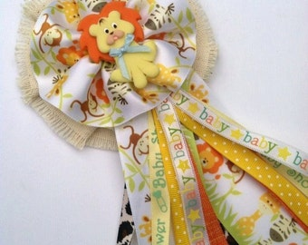 Safari Jungle Lion Mommy To Be Corsage Gender Reveal Baby Shower Corsage Lion Theme Corsage