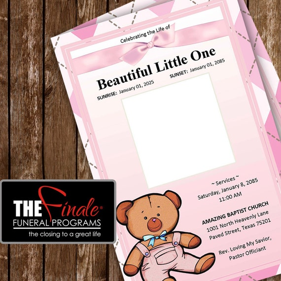 pink baby bear     printable funeral by thefinalefnrlprgrms