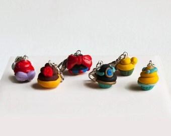 Disney Princess Polymer Clay Crochet Stitch Marker Set of 4