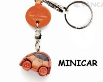 Minicar 3D Leather Keychain Keyring Purse Charm Zipper pull Accessory *VANCA* Made in Japan #56573 Free Shipping